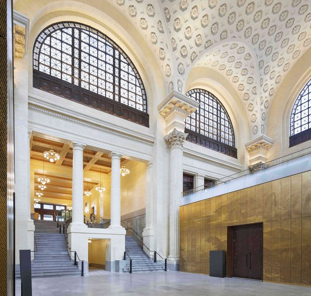 Restored processional route in former Ottawa train station, now the Senate of Canada Building Tom Arban Photography