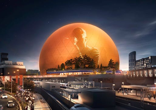 Rendering of the proposed MSG Sphere London venue. Image: Madison Square Garden Company