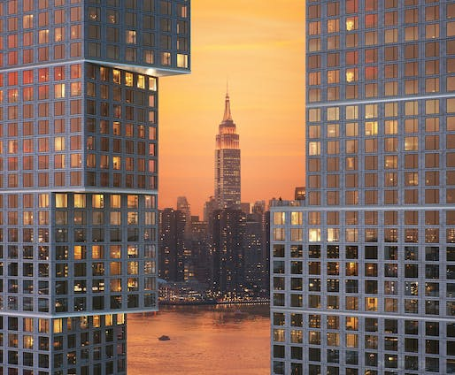 Empire state of mind: OMA's Greenpoint Landing Block D. Image © OMA, Bloom
