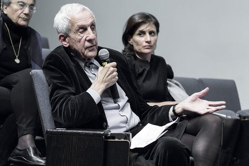 Kenneth Frampton at Columbia GSAPP. Photo via Wikipedia.