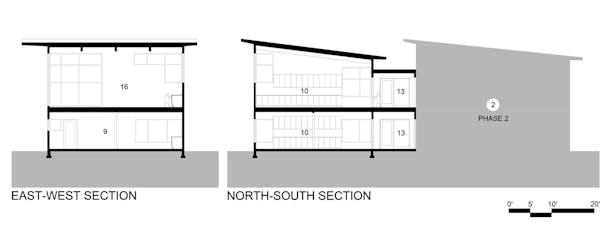 Whole Earth Montessori School: Sections (Paul Michael Davis Architects)