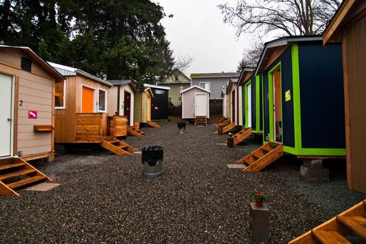 A Tiny House Village in Seattle. Image courtesy of Low Income Housing Institute