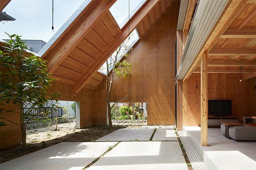 House in Anjo, Aichi, Japan, 2015, Suppose Design Office. Image via suppose.jp.