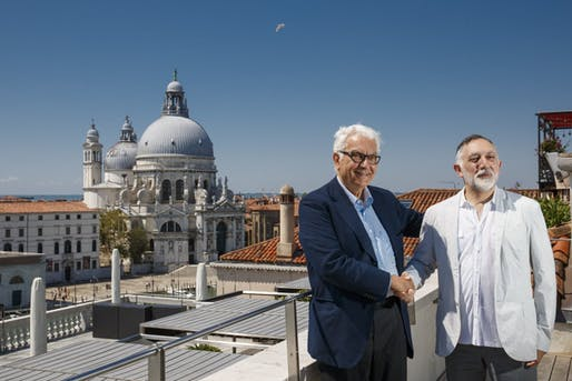 Paolo Baratta, president of La Biennale di Venezia, and Hashim Sarkis, curator of the 17th International Architecture Exhibition, have unveiled a guiding vision for the 2020 Venice Biennale. Image courtesy of La Biennale di Venezia.
