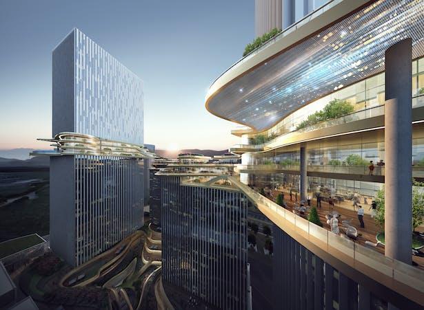 Hengqin CRCC Plaza, Zhuhai, China, by Aedas