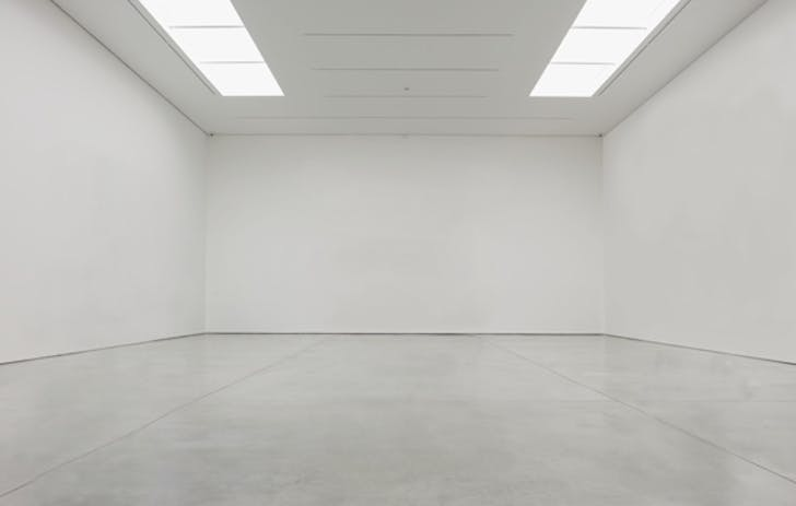 The white cube gallery space has become the dominant typology for art-viewing. Image: London's White Cube gallery empty. Credit: White Cube