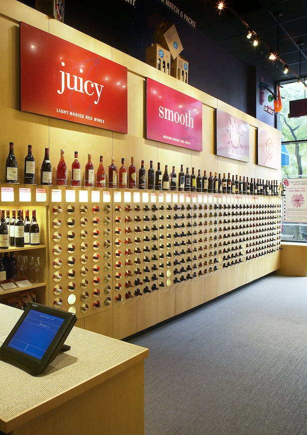 The goal of the shop is to make it fun and easy to choose a bottle of wine.