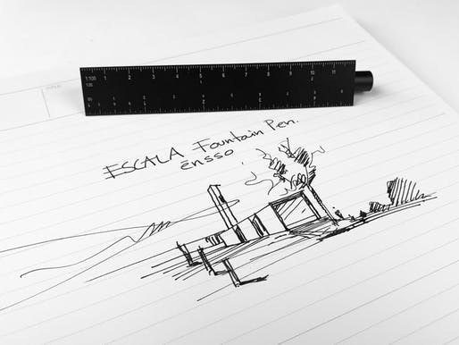 ESCALA: scale-ruler fountain pen. Photo by ENSSO.
