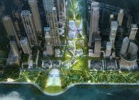 "TLS + AZPML Win Shenzhen Bay Super Headquarters Central Green Axis Landscape Design with ""Super Campus"""