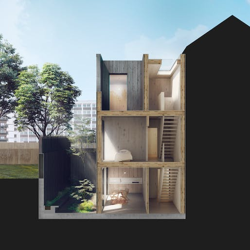 Modular home design by Adjaye Associates for Cube Haus. Image: Adjaye Associates.
