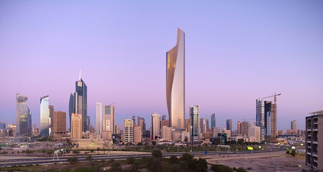 Architecture Merit Award Winner: Al Hamra Tower in Kuwait City, Kuwait by Skidmore, Owings & Merrill (Image Credit: SOM | © Tim Griffith)