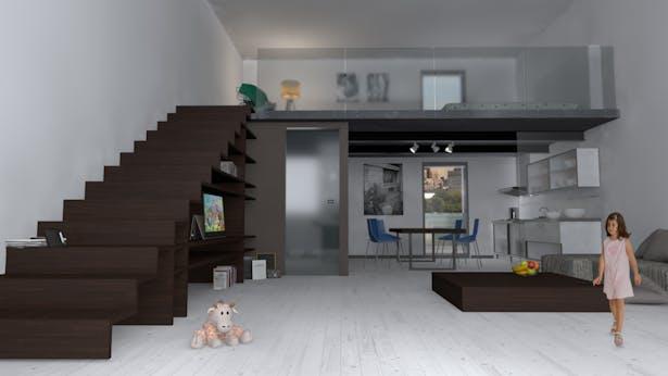 Loft interior view