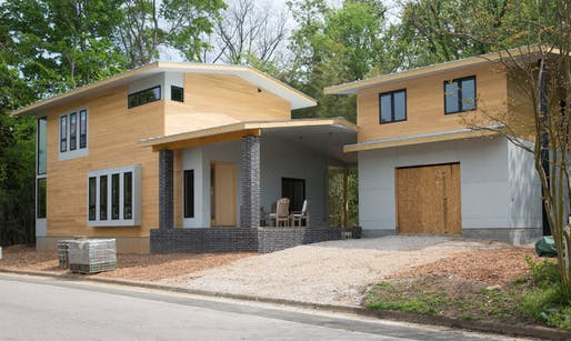 Louis Cherry's house was nearly completed when construction was halted. (NYT; Image: Louischerry.com)