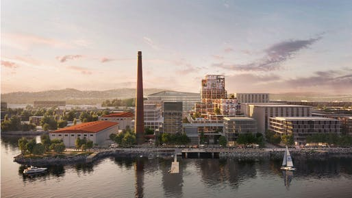 Foster + Partners designed two residential-led mixed-use buildings at the heart of the Potrero Power Station Mixed-Use Project in San Francisco. All Images: Foster + Partners