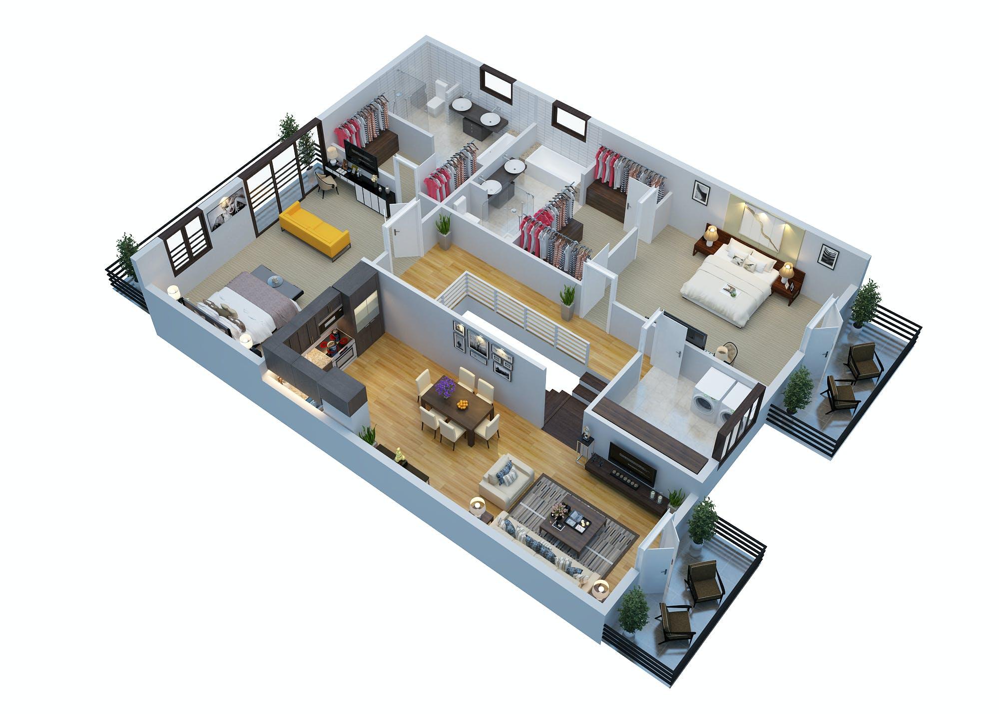 Architectural 3d floor plan rendering services 3d for 3d floor plan rendering