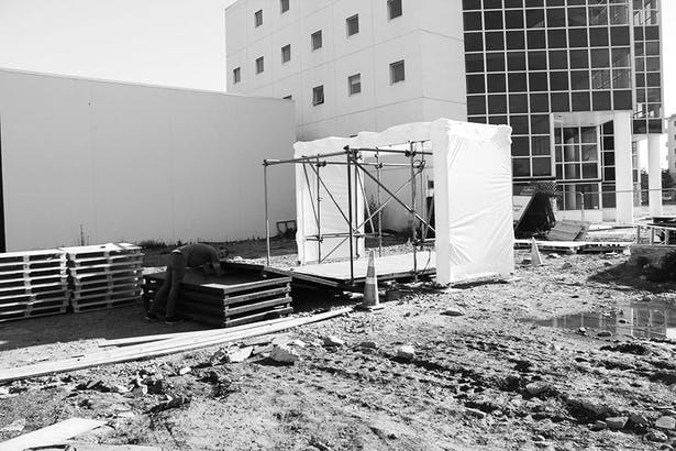 Scaffold Pavilion Sean Bollinger Archinect