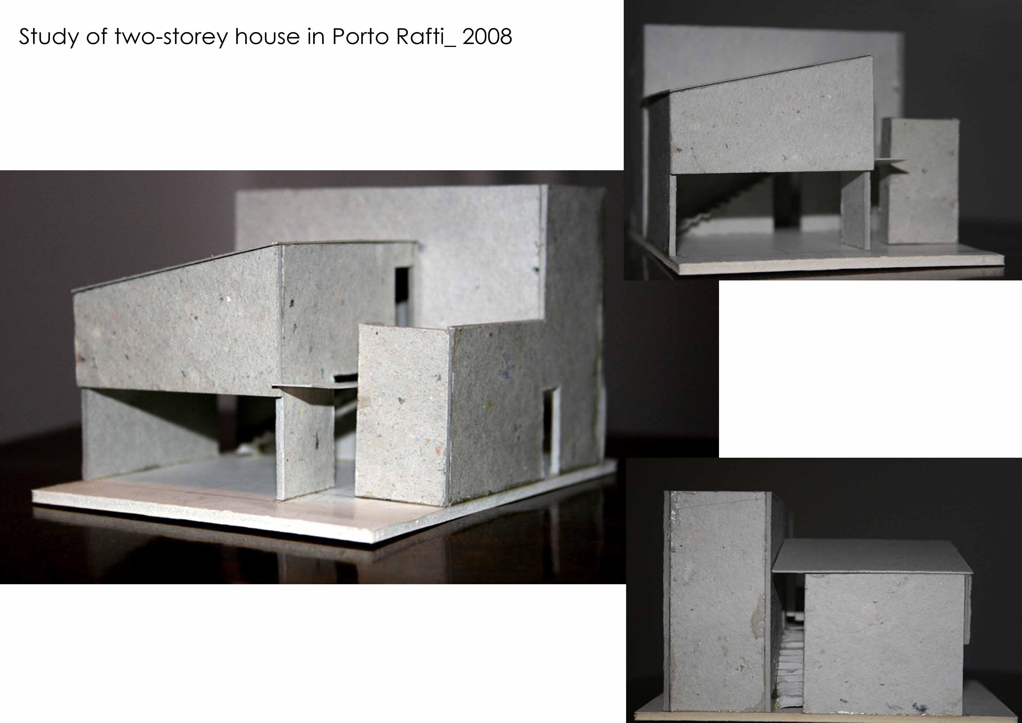 study of two storey house in porto rafti attica greece valia