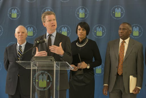 Shaun Donovan, center, is running to become the new mayor of New York City. Image courtesy of Sammy Mayo, Jr.
