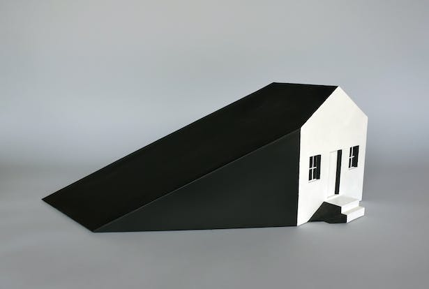 Shadow House, 24 inches L 10 inches W 9 inches H.