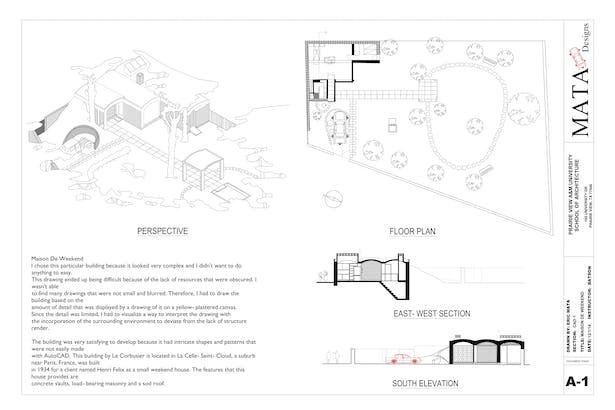 Maison De Weekend puter Aided Design Eric Mata