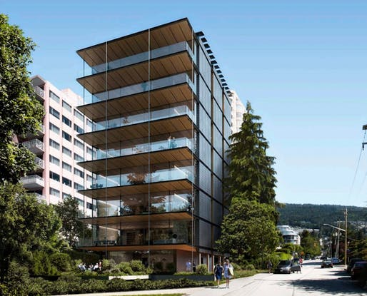 "Rendering of the 2204 Bellevue Avenue development in West Vancouver, BC. Image: Perkins and Will/Delta Land Development, via <a href=""https://dailyhive.com/vancouver/2204-bellevue-avenue-west-vancouver"">Urbanized Vancouver</a>"