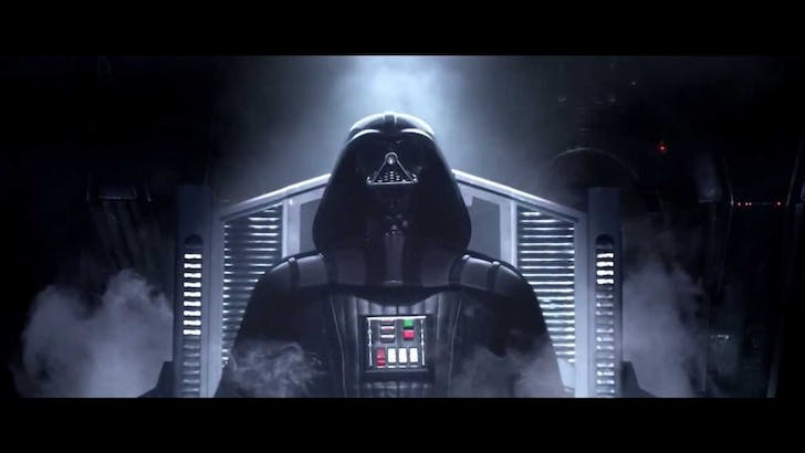 Darth Vader, Star Wars III. Image via Star Wars III YouTube trailer.
