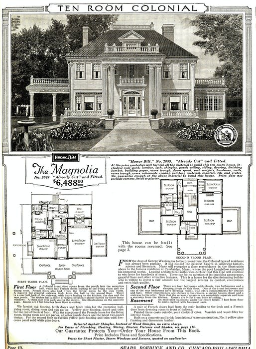 This Sears 'Magnolia' mail-order house could have been yours for only $6,488! That 1921 price, adjusted for inflation, translates to $86,722 in 2016 dollars. (Image via Wikipedia)
