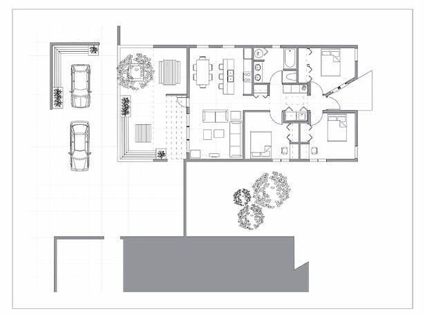 PatioHouse Plan