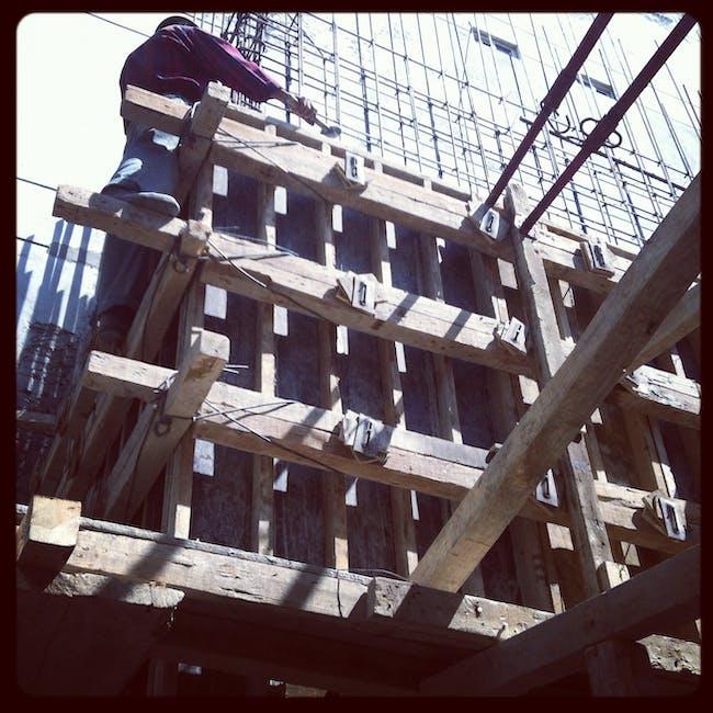 exterior concrete walls