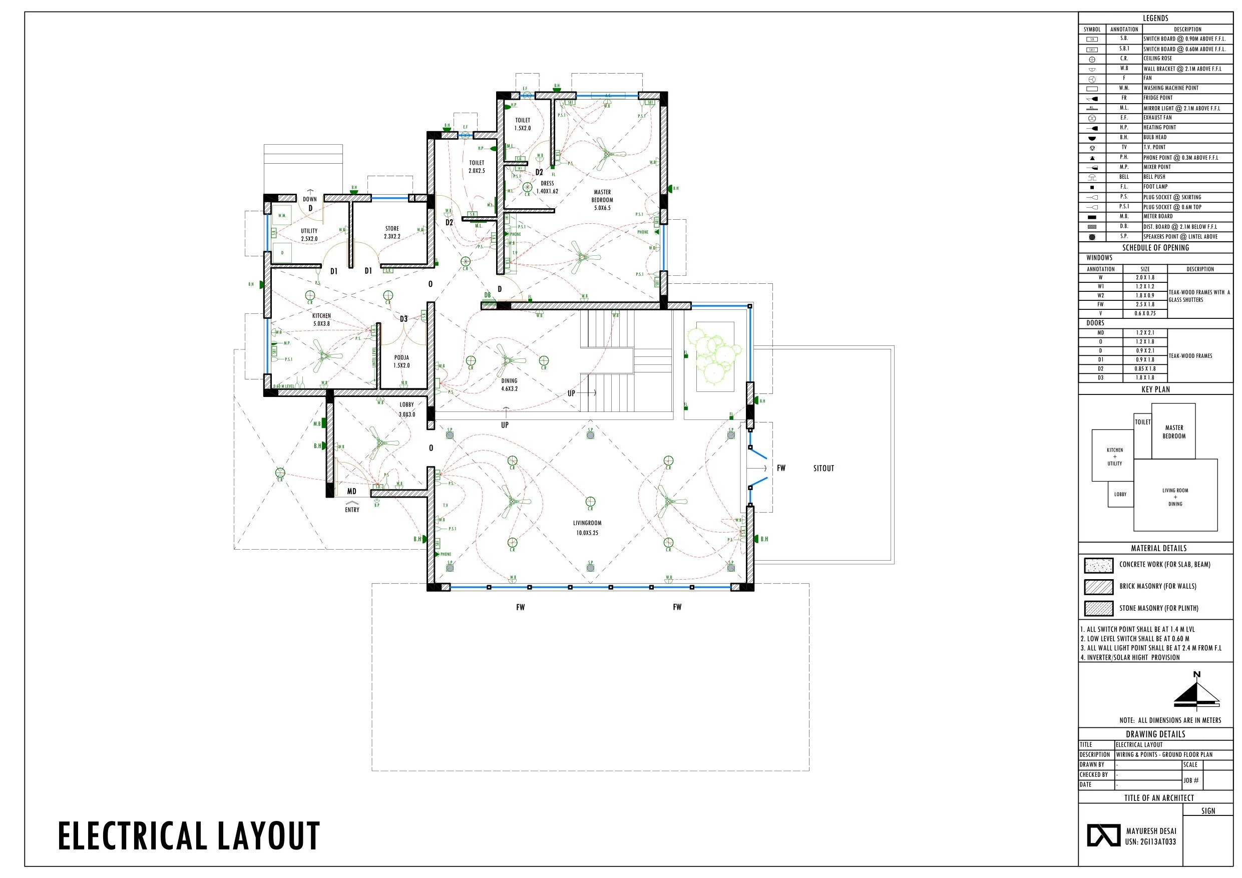 working drawings  small residential unit