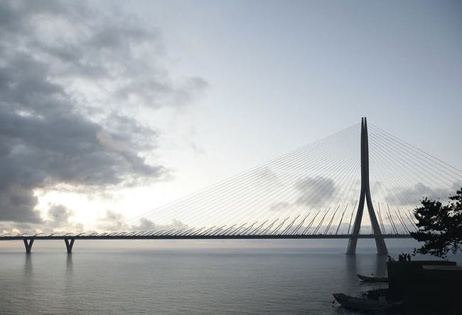 A rendering of the Danjiang Bridge. Credit: ZHA via Facebook