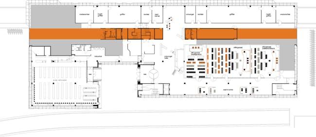 Floor plan 0. Image courtesy of J. MAYER H. Architects