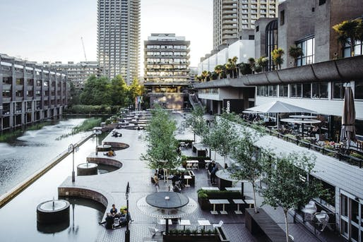 Barbican Lakeside terrace. Photo: Max Colson, image courtesy Barbican Centre.