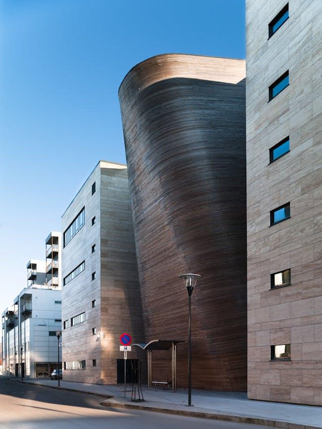 VÅGEN High School and SANDNES Culture Academy in Sandnes, Norway by Link Arkitektur; Photo: Hundven-Clements Photography