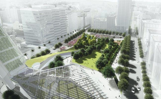 Pershing Square Renew finalist proposal: SWA with Morphosis