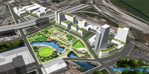 """Detail from the University of California - Berkeley's """"The Grand"""" proposal for downtown Houston"""