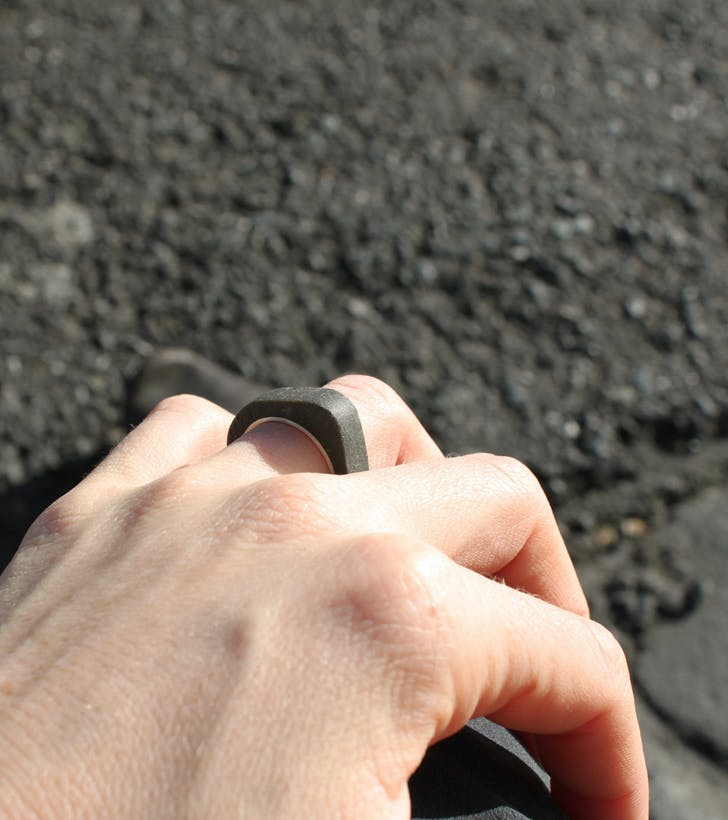 'Minimal 1' Concept Concrete Ring by Architact Collective. Photo courtesy of Linda Bennett.