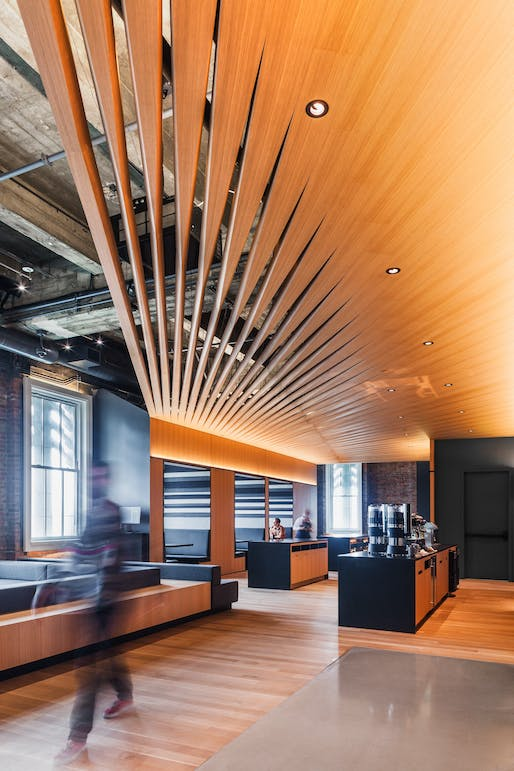 MERIT: Bloomberg Tech Hub, San Francisco, California, IwamotoScott Architecture. Courtesy of the 2017 Wood Design & Building Awards.
