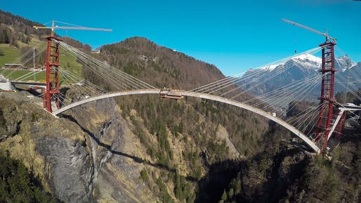 Winner of the Supreme Award for Structural Excellence & the Award for Vehicle Bridges: Tamina Canyon Crossing. Photo: TBA St. Gallen.
