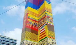 World's tallest (mostly) Lego tower built in memory of eight-year-old cancer victim