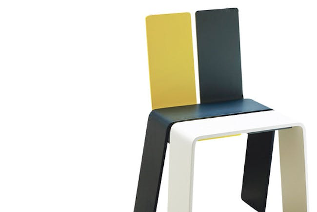 Shanghay Chair Danish architect Bjarke Ingels helped design this chair for his Danish Pavilion at Shanghai Expo 2010. The chair, which requires assembly of four flatpack plywood strips, is available at A+R, in Venice, Calif., for $285.