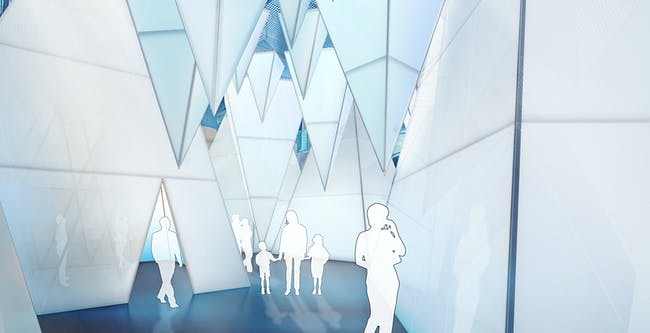 ICEBERGS grotto. Rendering by James Corner Field Operations, courtesy National Building Museum