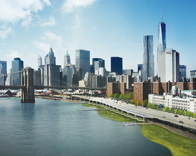 The East River Blueway Plan; New York, NY. Image courtesy of WXY architecture + urban design