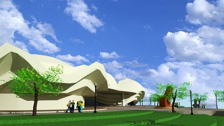 Redesigning of Alhambra Art Complex. (front view)
