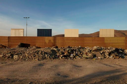 The eight different prototypes of the border wall. Photo courtesy of US Customs and Border Protection, taken by Yesica Uvina.