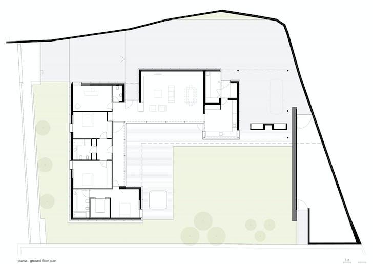 Project floor plan. Image: Arquitectos Matos