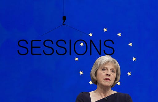 Theresa May, UK PM, a la David Cameron in our cover image for episode #70.
