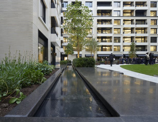 Water plays a key role in the landscaping by Gustafson Porter + Bowman