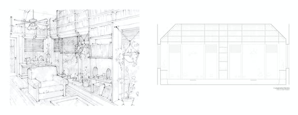 Leavenworth House Remodel Library Elevations