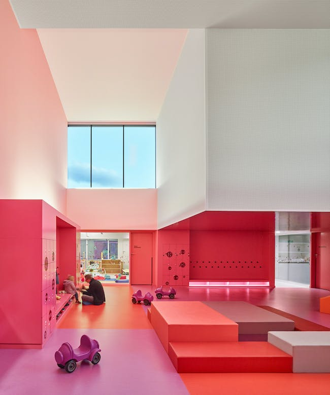 Nursery in Buhl, France by Dominique Coulon & associés; Photo: Eugeni Pons